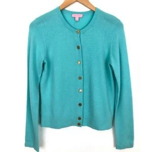 Lilly Pulitzer 100% Cashmere Cardigan Sweater
